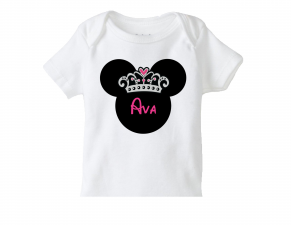 Girls Princess Minnie Mouse Birthday Tee