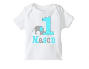 Elephant 1st Birthday Shirt, Personalized Elephant TShirt or Bodysuit, Boys Birthday Elephant Shirt, Boys Elephant Birthday Party, 2nd, 3rd