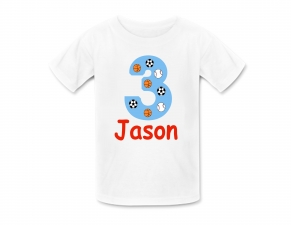 Sports Shirt, Sports Birthday Shirt, Personalized Sports Tshirt, Personalized Birthday Shirts, Boys Sports Birthday Party, Any Birthday Number