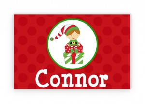 Elf Personalized Placemat, Elf Placemat, Christmas Elf, Christmas Decorations, Kids Placemat, Kids Christmas Gift, Kids Elf Gift