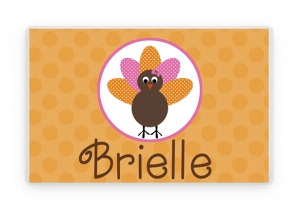 Personalized Thanksgiving Placemat, Laminated Placemat, Thanksgiving Table Decoration, Turkey  Decorations, Kids Table, Thanksgiving Gift