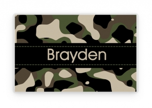 Personalized Boys Camouflage Placemat, Kids Camo Pink Personalized Place Mat, Green Camo Personalized Gift, Placemats, Kids Personalized Gifts
