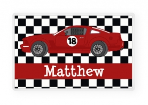 Personalized Race Car Placemat, Kids Personalized Place Mat, Race Car Personalized Gift, Race Car Placemats, Kids Personalized Gifts
