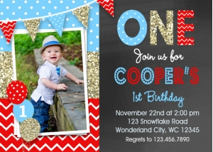 Boys Birthday Invitation Party