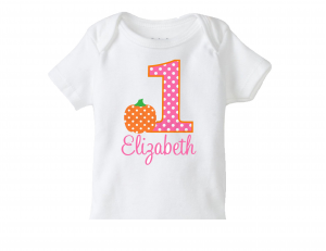 Fall Pumpkin Birthday Number T Shirt
