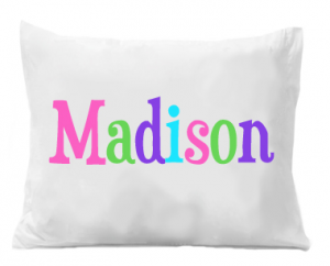 Monogram Pillowcase - Girls Personalized Pillow case - Printed Monogram Name Pillowcase - Birthday Gift - Christmas Gift - Kids Gifts