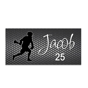 Boys Lacrosse Beach Towel, Personalized Lacrosse Towel, Lax Gift