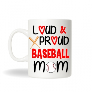 Baseball Mom Mug , Baseball Mom Gift, Baseball Mug, Sports Mug, Personalized Coffee Mug,Baseball Team Gift, Sports Mom Gift, Monogram Gift