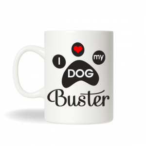 I Love My Dog Coffee Mug, Personalized Dog Mug, Dog Personalized Gift , Birthday Gift, Dog Christmas Gift, Holiday Gift