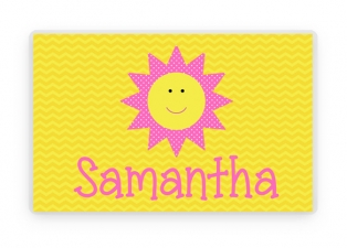 Sunshine Place Mat, Kids Personalized Place Mat, Sunshine Personalized Gift, Sun Place mats, Suneshine Placemat, Kids Personalized Gifts