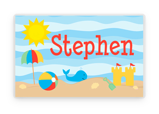 Summer Beach Placemat, Summer Placemat, Laminated Placemat, Kids Personalized Placemats, Personalized Gift