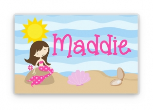 Personalized Placemat, Kids Placemat, Mermaid Placemat, Childs Placemat, Laminated Placemat, Personalized Gift, Kids Gift, Childrens Gift