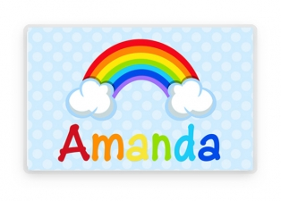 Personalized Placemat, Kids Placemat, Rainbow Placemat, Childs Placemat, Laminated Placemat, Personalized Gift, Kids Gift, Childrens Gift