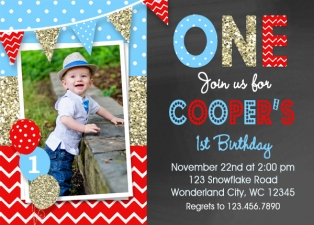 Boys Birthday Invitation Party Chalkboard