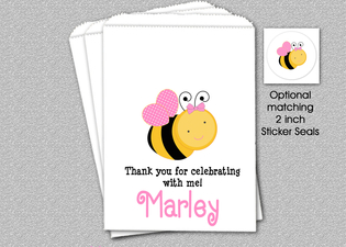 Bee Party Favor Bags, Personalized Bee Birthday Party Favor Bags, Bee Candy Bags, Bumble Bee Party Favors, Personalized Goody Bag, Candy Bag