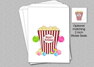 Popcorn Bag, Popcorn Candy Bag , Personalized Popcorn Bag, Personalized Candy Bag, Party Favor Bag, Personalized Candy Bag, Party Favor Bag