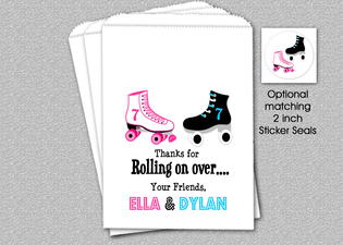 Skating Party Favor Bags, Siblings Party Favor Candy Bags, Candy Favor Bags, Party Favor Bag, Boys and Girls Party Favor Candy Bags