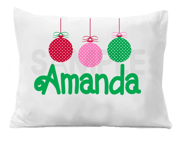 Custom Personalized Pillowcase Ornament Christmas Pillow Case